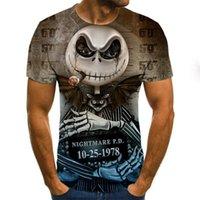 Erkekler Giysileri 2020 Yeni Erkek Yaz Kafatası Baskı Erkekler Kısa Kollu T-Shirt 3D Baskı T Gömlek Casual Nefes Komik T Shirtssoccer Jersey