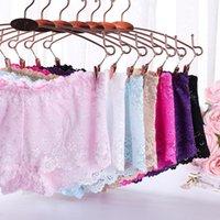 Women's Panties 6 Colors sexy Lace Ladies Boxer Briefs Temptation Low Waist Water-soluble Jacquard Transparent Buttocks Cotton Bottom File P