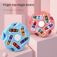 Girar Magia Bean Inteligência Fingertip Cubo Decompression Toy Puzzle Crianças Fidget Brinquedos Dedo Giroscópio Disco Educacional
