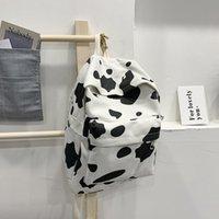 Designer School Bag Pegrq Mochila Feminina Cow Bookbag School Bagpacks Wxdvp Travel Girls Casual Vintage Bag Laptop For Backpack Pattern Tee