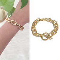 Bracelets High Quality Hand Gold Color Cuban Link Chain Bangles for Women girl Special Party Jewelry