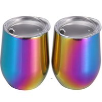 Stainless Steel Tumbler UV Wine Glasses Egg Cup Water Bottle Double Wall Vacuum Insulated Beer Mug Kitchen Bar Drinkware BWB7881