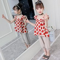 Clothing Sets KEAIYOUHUO Polka Dot Pattern Clothes 2021 Teenager Baby Kids Suits For Girls Sleeveless Tops Pants 2PCS 3-12Y