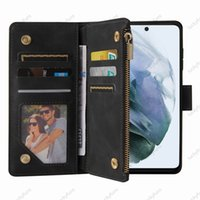 Wallet PU leather zipper bag phone Cases with card slot Photo frame stand for Samsung Galaxy A32 A22 A42 A52 A72 A82 A51 A71 A10S A20S A12 A21S A11 A01CORE A31 5G case cover