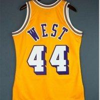 Özel Bay Gençlik Kadınlar Vintage Jerry West Mitchell Ness 71 72 Koleji Basketbol Forması Boyutu S-6XL veya Özel Herhangi Bir Ad veya Number Jersey