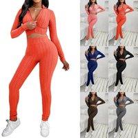Ananas Spor Eşofman Yoga Setleri Kadın Spor Giysi Sonbahar Ve Kış Spor Giyim Moda Rahat Düz Renk