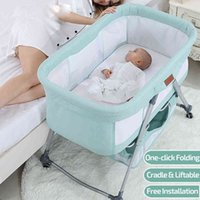 2021 Cradle Newborn Infant Bed Baby Sleeper Bedside Bassinet Portable Crib Mobile Foldable with Mosquito Net