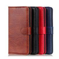 Cajas de billetera de cuero de PU Crazy Horse con ranura para tarjeta para iPhone 12 11 Pro Promax X XS MAX 7 8 Plus Funda de caja