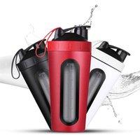 Protein Shaker Şişesi 700 ml Paslanmaz Çelik Spor Salonu Fitness Spor Eko Dostu Su Tozu Mikser 210423