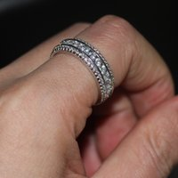 Women ring Channel setting Round Diamond white gold filled Engagement Wedding Band Ring Sz 5-11 DFF2035