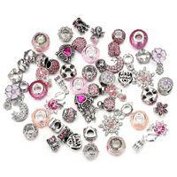 50pcs European Bead Catena di sicurezza Catena di sicurezza Bead Charm European Bead Fit For Pandora Braccialetti Mix Color