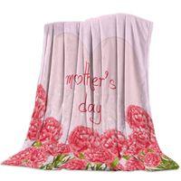 عيد الأم الحب الزهور القرنفل سميكة الفانيلا بطانية سرير المنسوجات المنزلية الصديقة للبشرة للبطانيات المكتبية