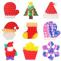 크리스마스 시리즈 팝 장난감 프레스 버블 팬터 어린이 감압 장난감 산타 클로스 카모 크리스마스 트리 장갑 어린이 감각 퍼즐 짜내 장난감 2022 G69PFN9