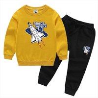 Zwy883 primavera outono meninos meninos meninas roupas crianças letras conjuntos de calças 2 pcs toddler fashionsuits de fantasia de moda
