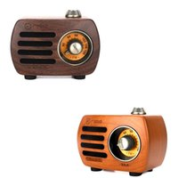 Altavoces portátiles Mini Vintage Retro Wood FM SD MP3 Bluetooth Transistor Radio recargable con altavoz, R818