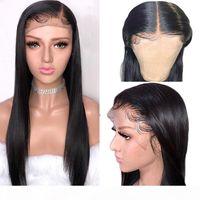 13x4 Dantel Ön Peruk Prepelked Brezilyalı Saç Remy Düz Gerçek İnsan Saç Dantel Peruk Bebek Saçlı Siyah Kadınlar Için Tutkalsız