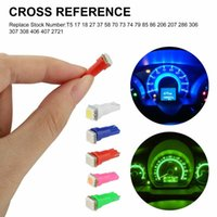 Gauge Dash Light Bulb Car Replacement Speedometer T5 74 Universal SMD LED Emergency Lights