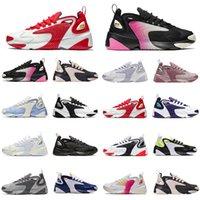 ZOOM M2K 2K M2k Tekno Zoom 2K Hommes Chaussures de course Mode Femmes Sneaker Triple Noir Noir Volt Entraîneur sportif Hommes Athletic Jogging Chaussures
