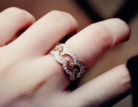 Off Luxury Jewelry 925 Sterling Silver White Sapphire CZ Crystal Party Retro Diamond Women Wedding Crown Ring DFF3263