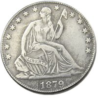 US 1879-P-CC Liberty Seated Half Dollar Craft Silver Plated Copy Coins Brass Ornaments home decoration accessories