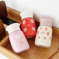 زجاجات المياه الحفاظ على الزجاج الدافئ الوردي هو العطاء وجميلة فتاة صغيرة القلب رفع حبل كأس المحمولة هدية من 304 الفولاذ المقاوم للصدأ