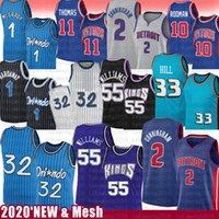 Detroit Pistons Orlando Magic Sacramento Kings Shaquille O'Neal Jason Williams Derrick Rose Grant Hill Basketball Jersey Penny Tracy Hardaway McGrady Isiah 11 Dennis Thomas Rodman