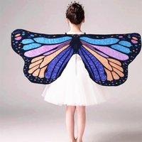 Костюмы обертывают сказочную принцессу Косплей костюм костюм бабочки крылья шальки накидят накидку дети мальчики девочек шарф обернуть девушку крыло
