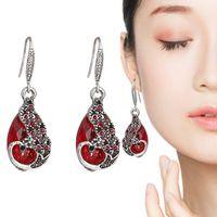 Neue Hollow Peacock Qualität Französisch Kupfer Haken Glas Ohrringe Frauen Chinesischen Stil P5PF