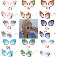 Rhinestone Polarized Sunglasses High Quality UV400 Oversized...