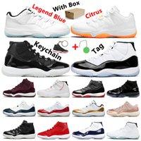 Nike Air Jordan 11 Retro Universität Blau Dark Mokka Rauch Grau 25. Jubiläum Concord Cap and Gown Trainer Sport Turnschuhe mit Box Grün Tag