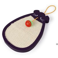 Bola de ratón Sisal Cat Scratch Toard Catnip Bed House Cushion Mat Scrapper Scratching Pad Post Interactive Play Toy DHE9930