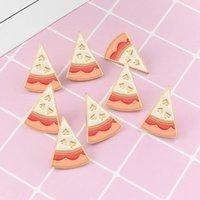 Piece of pizza delicious white love personality creative badge ornament special enamel cartoon lapel denim pins 1133 T2