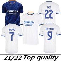 Version ventilatrice Real Madrid Mbappe Jerseys 22 21 Jersey Soccer Hazard Sergio Ramos Benzema Vinicius Camiseta Chemises de football Uniformes Hommes 2022 2021