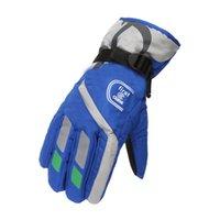 50%off Warm Ski Gloves Fashion Kids Men Women for VIP customer Winter Sports Waterproof Adjustable Skiing Strap Gloves sea