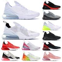 Nike Air Max Airmax 270 Classico Mens Womens Original Running Scarpe da corsa Triple Black Black Bianco Ruggine Pink Dusty Grigio Donne Sneakers da ginnastica  Corridori Outdoor