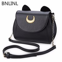 Summer Sailor Moon Ladies Borsa Borsa Black Cat Shape a forma di tracolla Borsa in pelle PU in pelle Messenger Crossbody Small Bag