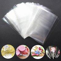 선물 포장 30-100pcs 투명 한 OPP 비닐 봉지 캔디 롤리팝 쿠키 포장 가방 또는 인감 스티커 웨딩 파티에 대 한 평면 열기 탑