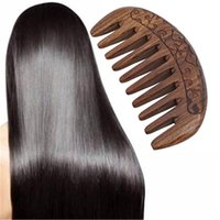Hair Brushes Pocket Wooden Comb Natural Black Gold Sandalwood Super Narrow Tooth Wood Combs No Static Lice Beard Styling