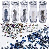 2021 Glittering Crystal Drill DIY Nail Art Rhinestone Micro Diamonds Sharp Bottom Non Hotfix Silver Gold Steel Balls Nails Decorations Tool