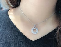 Diamond Pendant Real 925 Sterling Silver Charm Party Wedding Pendants Necklace For Women Bridal moissanite Jewelry