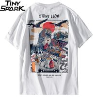 Harajuku T Shirt Men Hip Hop T-Shirt Stone Lion Chinese Streetwear Summer Tshirts Short Sleeve Cotton Tops Tees Hipster New 210319