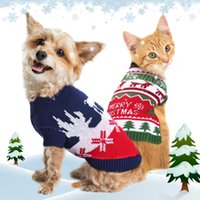 Dog Apparel Christmas Pet Clothes Winter Cat Puppy Sweater Knitwear Soft Cotton Small Dogs Chihuahua Festival Clothing Costume Outfit