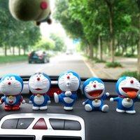 漫画の青い脂肪の男性の車の装飾機械猫人形のおもちゃDing Dangケーキのアクセサリー10cm