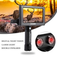 Cunting Cameras HD Night Vision Dispositivo Clear Imagem Dupla Inflared IR Long Range Em Full Darkness Viewer Laser Red Dot Sight Âmbito Montado