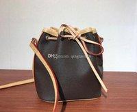 أعلى جودة مصغرة تظهر الجلود الأزياء الكتف نانو نوي أكياس النساء حقيقي حقائب اليد عالية رسول مقابض حقائب M41346