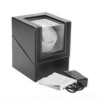 Scatola di visualizzazione automatica dell'orologio rotante dell'orologio dell'orologio dell'orologio dell'orologio di avvolgimento della scatola dei gioielli dell'orologio di avvolgitore Box Black Brown