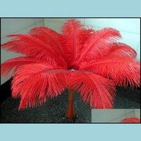 Decoration Event Festive Supplies Home & Gardenwholesale A Lot Beautif Ostrich Feathers 25-30Cm For Wedding Centerpiece Table Centerpieces P