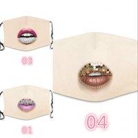 패션 방진 얼굴 마스크 다이아몬드 보호 마스크 PM2.5 입 마스크 세탁 가능한 재사용 가능한 여성 다채로운 모조 다이아몬드 얼굴 마스크 369 N2