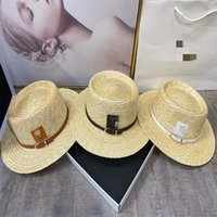 2021 designer Brand straw hat Mother and daughter Bucket Cap Stra Sunhat summer beach Sun Hats women