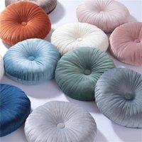 Sammet rund pumpa sitsstol midja baka soffa kudde nackstöd hjul kudde med kärna hem textil dekoration